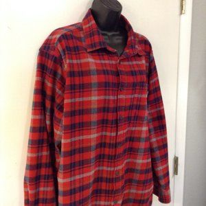 Eddie Bauer sz XXL 100% cotton flannel plaid shirt
